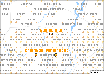 map of Gobindapur