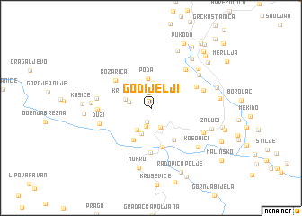map of Godijelji