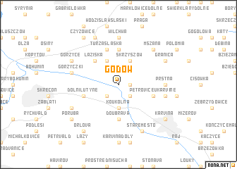 map of Godów
