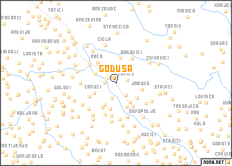 map of Goduša