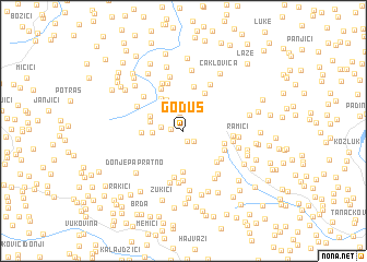 map of Goduš