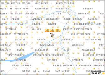 map of Gögging