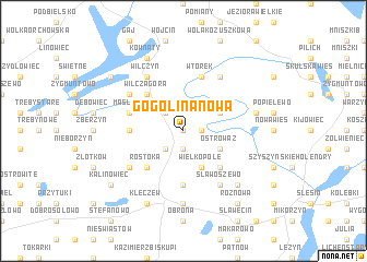 map of Gogolina Nowa