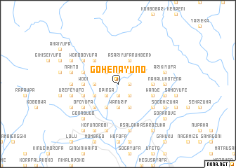 map of Gohenayuno