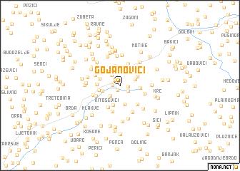 map of Gojanovići