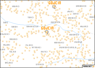 map of Gojčin