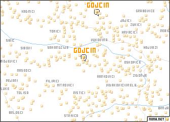 map of Gojčin