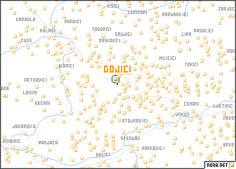 map of Gojići