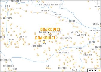map of Gojkovići