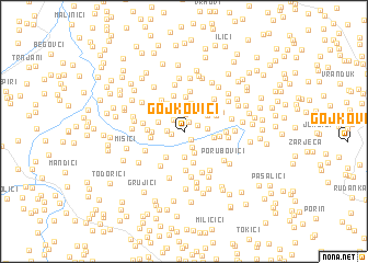 map of Gojkovići