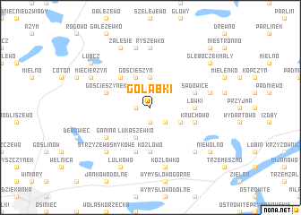 map of Gołąbki
