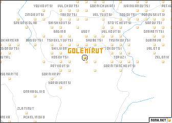 map of Golemi Rŭt