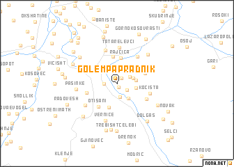 map of Golem Papradnik