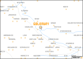 map of Golendry