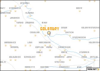 map of Golendry