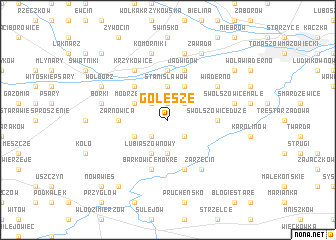 map of Golesze