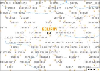 map of Goliany