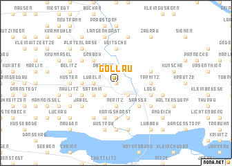 map of Gollau