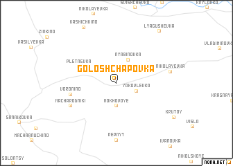 map of Goloshchapovka