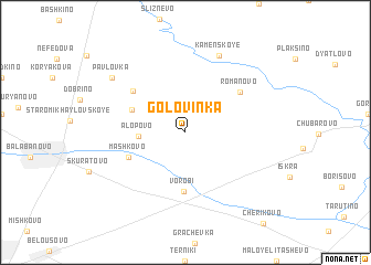 map of Golovinka