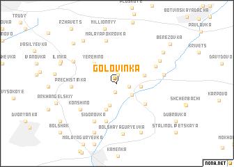 map of Golovinka