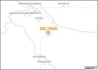 map of Golyashi