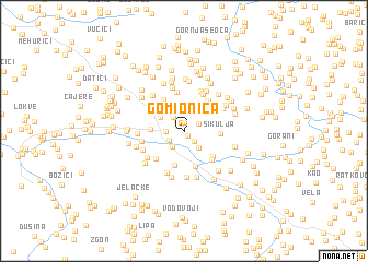 map of Gomionica