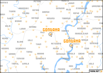 map of Gondama