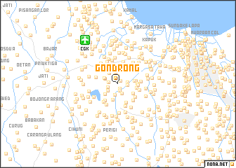 map of Gondrong