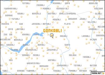 map of Gonkabli