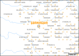 map of Gonmingwin