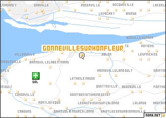 Gonneville Sur Honfleur France Map Nona Net