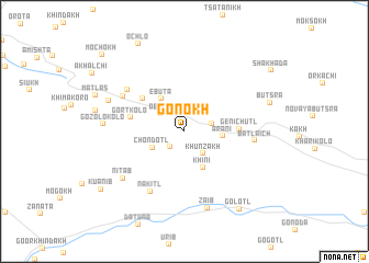 map of Gonokh