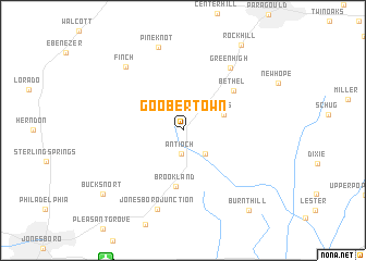 map of Goobertown