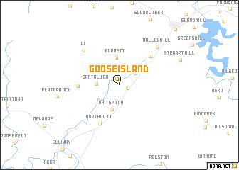 map of Goose Island