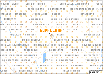 map of Gopallawa