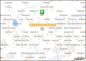 map of Góra Siewierska