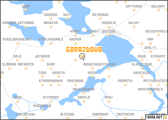map of Gorazdowo