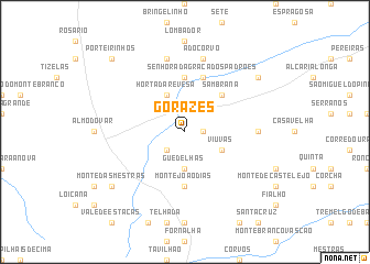 map of Gorazes