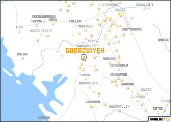 map of Gorāzū'īyeh