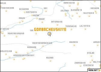 map of Gorbachevskiye