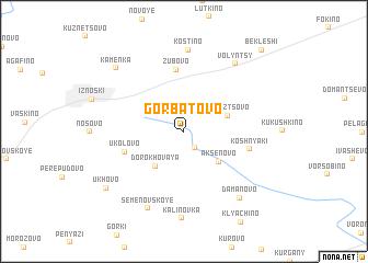 map of Gorbatovo