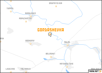 map of Gordashevka