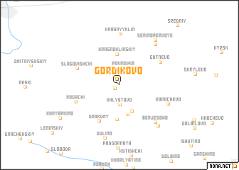 map of Gordikovo