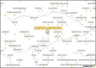map of Gorenja Ravan
