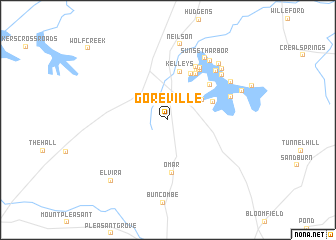 map of Goreville