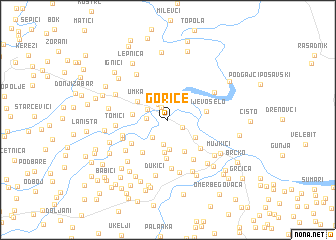 map of Gorice