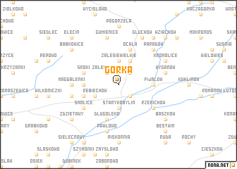 map of Górka