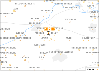 map of Gorka