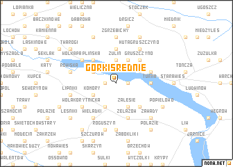 map of Górki Śređnie